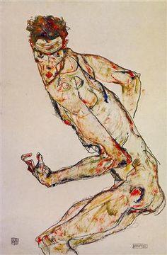 Fighter - Egon Schiele - Expressionism, 1913