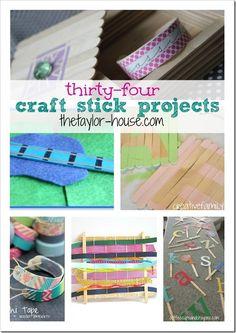34 Fun Craft Stick Projects