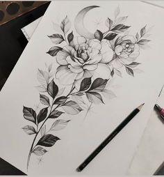Tattoo Studio, Watercolor Plants, Flowers Nature, Blackwork, Draw, Tattoo Flash, Tattoo Ideas, Fruit, Creative