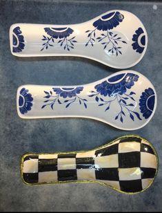 Spoon Rest, Spoons, Painted Spoons, Ceramic Spoons