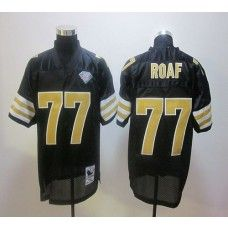 14602f3b3d3 Mitchell And Ness Saints #77 Willie Roaf Black Stitched NFL Jersey New  Orleans Saints Jersey
