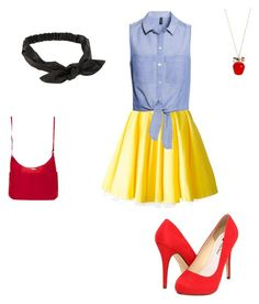 Snow White by saaaamgames on Polyvore featuring polyvore, fashion, style, H&M, Philipp Plein, Michael Antonio, Baggallini, Betsey Johnson and NLY Accessories