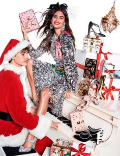 Sara Sampaio shines silver Dolce & Gabbana dress for Vogue Magazine Paris December 2016 issue