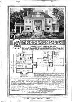 So, back in the day (1900 to about 1940) Sears sold houses – entire houses – in their catalog:  floorplan and all construction materials included. I'd gladly take either of these …