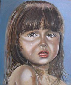 Verdriet, olieverf op doek  geschilderd door John Dunk