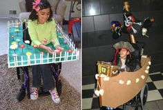 How clever and fun! Halloween costumes for kids in wheelchairs.