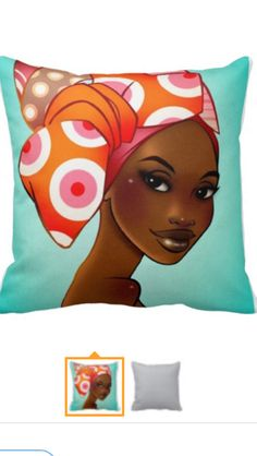 Afrocentric cushions from Ma Nubiah---she is me and I am her
