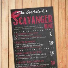 Bachelorette Scavenger Hunt by CutandCuteDesign