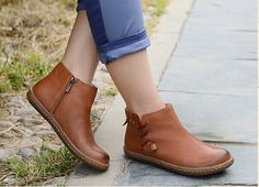 Handmade Flat Shoes for Women Oxford Shoes Ankle by HerHis on Etsy