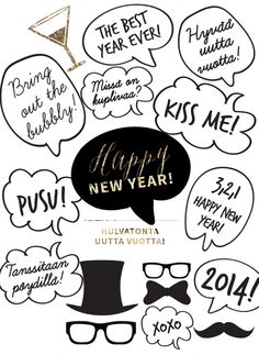 bring some fun photo action to your new years eve party with these printable photo props