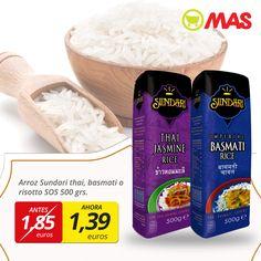 Arroz basmati o risotto, en #oferta hasta el 29 de abril en nuestros Supermercados MAS para que te prepares un plato de la más tradicional cocina asiática!