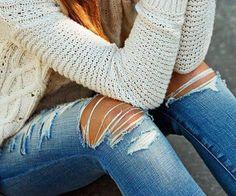 abbinare i jeans strappati