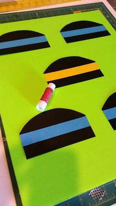 Position and glue the backboards to the large foam board