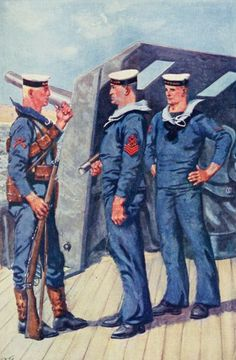 Uniforms of the British Navy - Midshipman. Admiral. Flag-Lieutenant. Secretary (Fleet Paymaster).