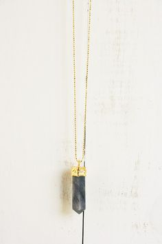 Pencil Point Necklace, Midnight Grey