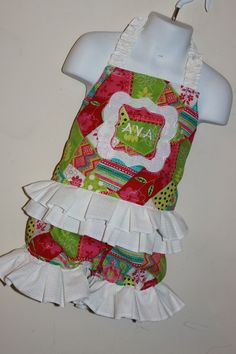 Summer corset and ruffle shorts