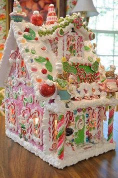 Pretty gingerbread house https://www.facebook.com/ChristmasYearRound