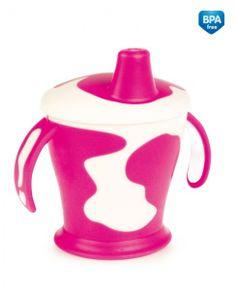 """Tasse avec anses """"Little cow"""" rose- Canpol babies- Bébé Petit Pom"""
