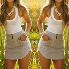 Stylish Scoop Neck Color Block Double-Pocket Skinny Sundress For Women