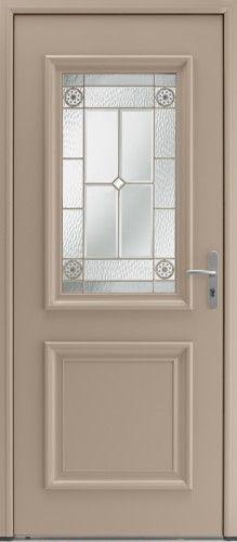 Porte aluminium porte entree bel 39 m classique poignee plaque gris deco - Prix porte d entree bel m ...