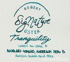 thINKthursday - Robert Oster Signature Tranquility