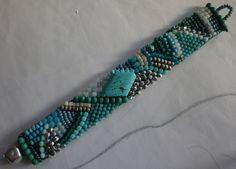 Glasperlenarmbänder - gesticktes Perlenarmband..Jana. - ein Designerstück von…