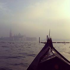 Venice in fog.
