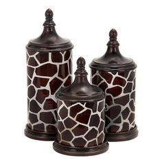 3 Piece Safari Jar Set