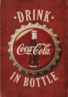 - Coca Cola - Ideas of Coca Cola - Ideas of Coca Cola - Drink Coca-cola in bottle frases refrigerante ret Vintage Coca Cola, Coca Cola Wallpaper, Retro Wallpaper, Vintage Signs, Vintage Ads, Coca Cola Decor, Etiquette Vintage, Always Coca Cola, Coca Cola Bottles