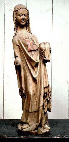 Madonna, child missing Övertorneå, region of Norrbotten, Sweden Made in Rhen-area ca.1350