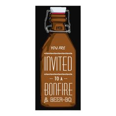 Funny Bonfire & Beer BQ Barbecue Engagement Party Invitation - tap, personalize, buy right now! #Invitation  #beer #bottle #invitation #barbecue #bbq Beer Decorations, Engagement Party Decorations, Engagement Party Invitations, Birthday Party Invitations, Invitation Wording, Custom Invitations, Invite, Drinking Games For Parties, Party Drinks Alcohol