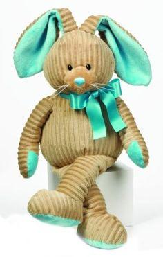 """Loppy - Corduroy Plush Bunny Toy - 16"""" Turquoise by Ganz, http://www.amazon.com/gp/product/B0079474YK/ref=cm_sw_r_pi_alp_O3F4pb1C5PD31"""