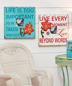 Look at this Inspirational Wood Picture Frame Set on #zulily today!