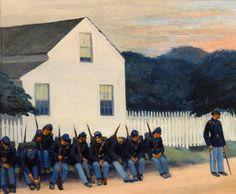 """""""Dawn Before Gettysburg"""" by Edward Hopper (1882-1967)"""