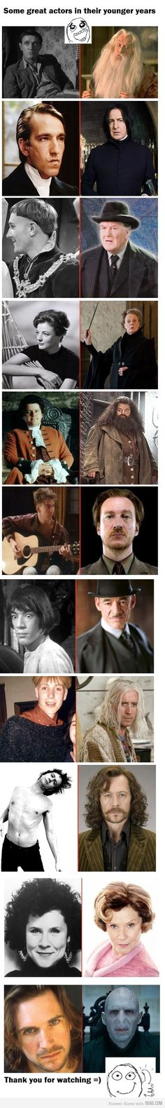 actors in their younger years.