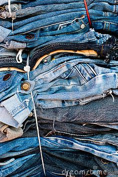 A pile of denim.