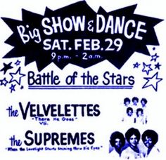 60s girl group battle between The Supremes and The Velvelettes