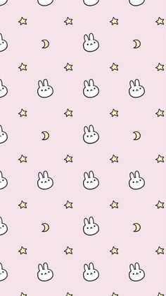 52 Ideas For Wall Paper Cute Kawaii Iphone Rabbit Wallpaper, Soft Wallpaper, Iphone Background Wallpaper, Kawaii Wallpaper, Aesthetic Iphone Wallpaper, Aesthetic Wallpapers, Glitter Wallpaper, Screensaver Iphone, Japon Illustration