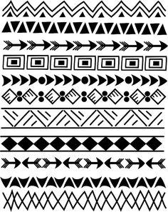 50 off Sale 11 Indian Tribal borders 8.5 Doodle by aprilhovjacky