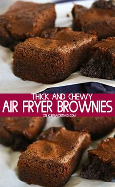 If you love thick and chewy brownies, this Air Fryer Brownies recipe is easy & s. - If you love thick and chewy brownies, this Air Fryer Brownies recipe is easy & so delicious. Air Fryer Recipes Wings, Air Fryer Recipes Dessert, Air Fryer Recipes Appetizers, Air Fryer Recipes Vegetables, Air Fryer Recipes Snacks, Air Frier Recipes, Air Fryer Recipes Breakfast, Healthy Vegetables, Best Air Fryers