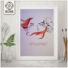 Poster  Ariel  La Sirenetta  Wish I could be di RoseDigitalArtist