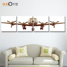 Canvas Print Painting Pictures Wall Art Home Decor Airplane Plane Army Framed Farmhouse Wall Decor, Home Wall Decor, Cheap Home Decor, Diy Home Decor, Home Decor Pictures, Wall Art Pictures, Painting Pictures, Army Decor, 5 Panel Wall Art