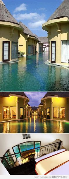 Swim resort Villa Seminyak, Bali - Amazing resort with lagoon villas that have exits right into pool in Bali. TAKE ME HERE!!!!!!
