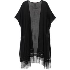 Embroidered Fringe Kimono ($84) ❤ liked on Polyvore featuring intimates, robes, victoria secret robe, victorias secret kimono, kimono robe, fringe kimono and embroidered robes