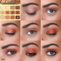 A great fall eyeshadow look using the Tarte Tartelette Toasted palette.