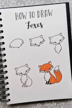 20 best animal bullet journal DOODLES with step by step tutorials Bullet Journal Writing, Bullet Journal Aesthetic, Bullet Journal Ideas Pages, Bullet Journal Inspiration, Doodle Art For Beginners, Easy Doodle Art, Desenho Toy Story, Cute Easy Drawings, Animal Doodles
