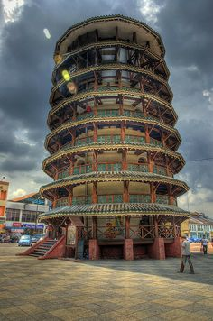 Teluk Intan Leaning Tower in HDR