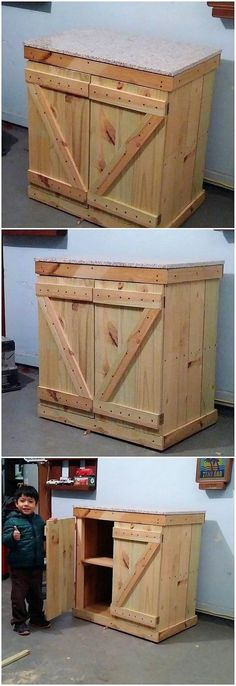 This is such a splendid pallet furniture outlook for your house functional use! Such a charming and much elegant form of crafting outlook work has been done in the furniture designing that makes it appear so inspiring and brilliant looking. Catch this cabinet idea of wood pallet!