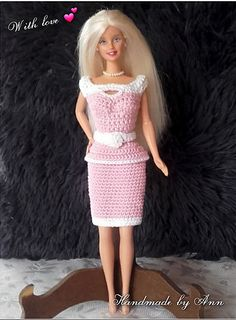 gratis haakpatroon barbie jurkje Pretty in Pink