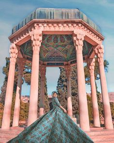 Iran has many poets.one of them is Hafez so popular and famous, Persian lyric po. Persian Architecture, Cultural Architecture, Shiraz En Iran, Monuments, Iran Pictures, Visit Iran, Iran Travel, Persian Culture, Iranian Art